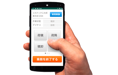 スマートフォンによる簡単操作